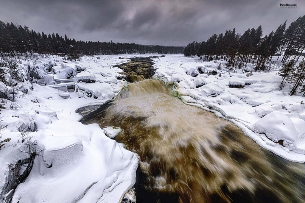 visit lapland for views of waterfalls like this