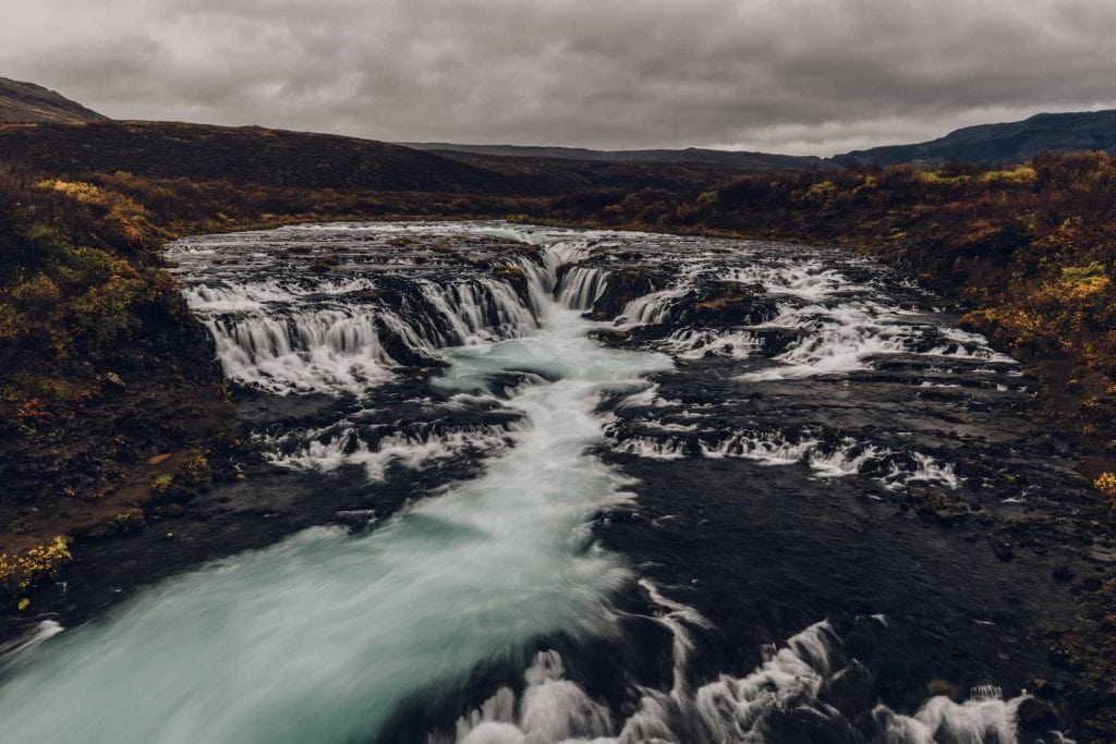 bruarfoss is a beautiful waterfall to include in your itinerary for iceland for 5 days