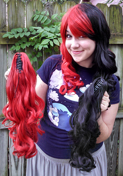 Gothic Lolipocalypse Harlequin Horror  Harley Quinn cosplay wig  The Five Wits