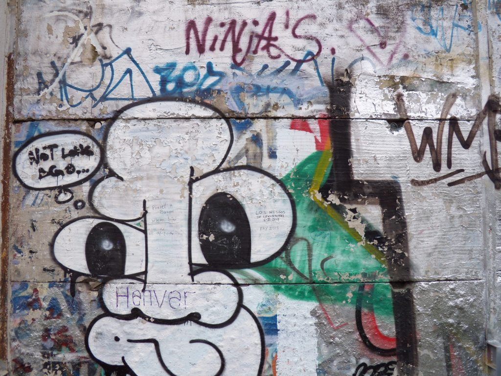 A small section of the Berlin Wall, left standing for posterity
