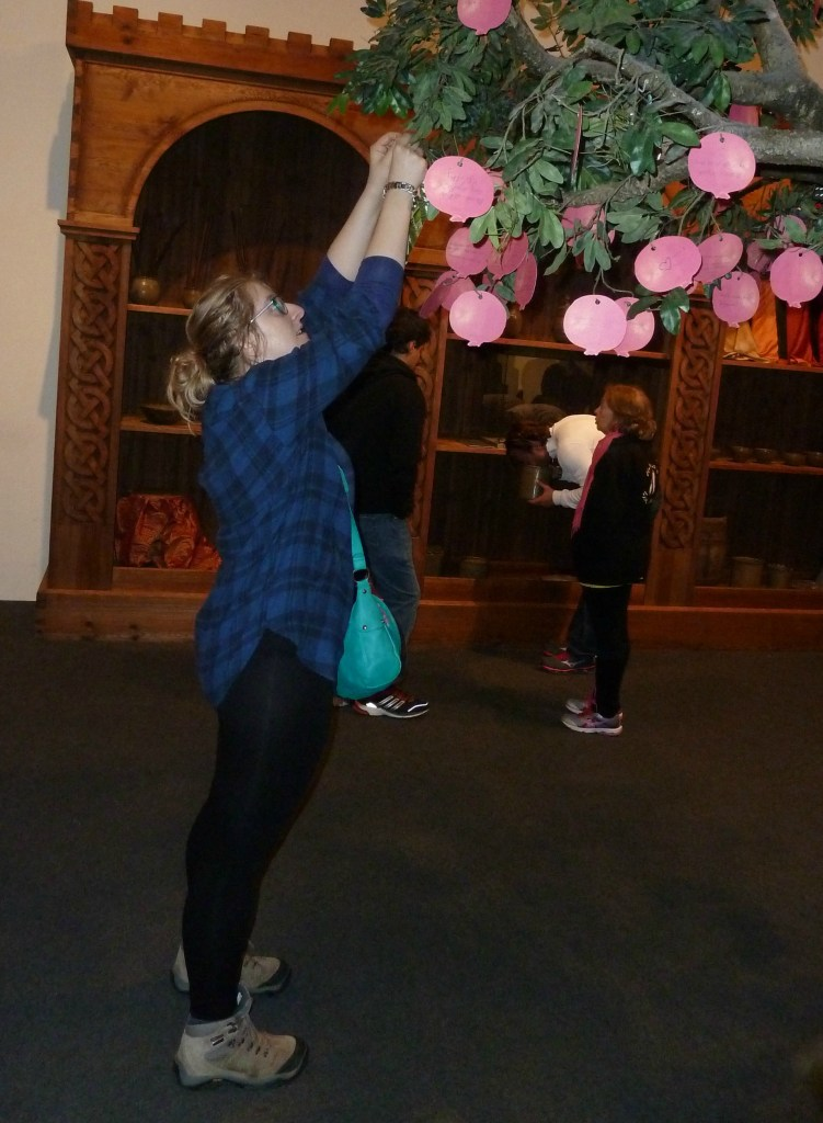 "Adding my hopes to the ""Wishing Tree"" at the Jewish Museum"