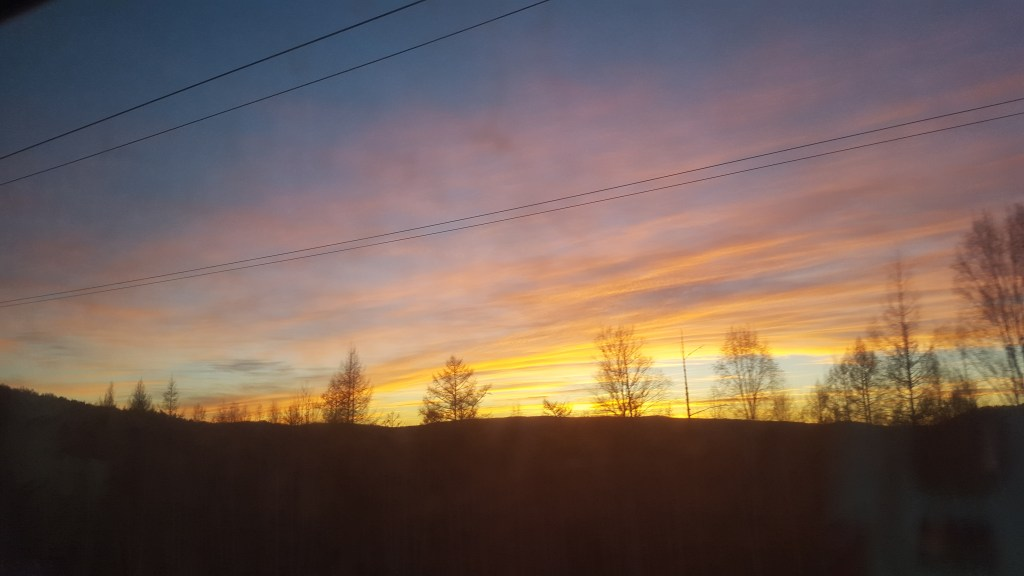 Sunset from the Trans-Siberian on our penultimate night on board
