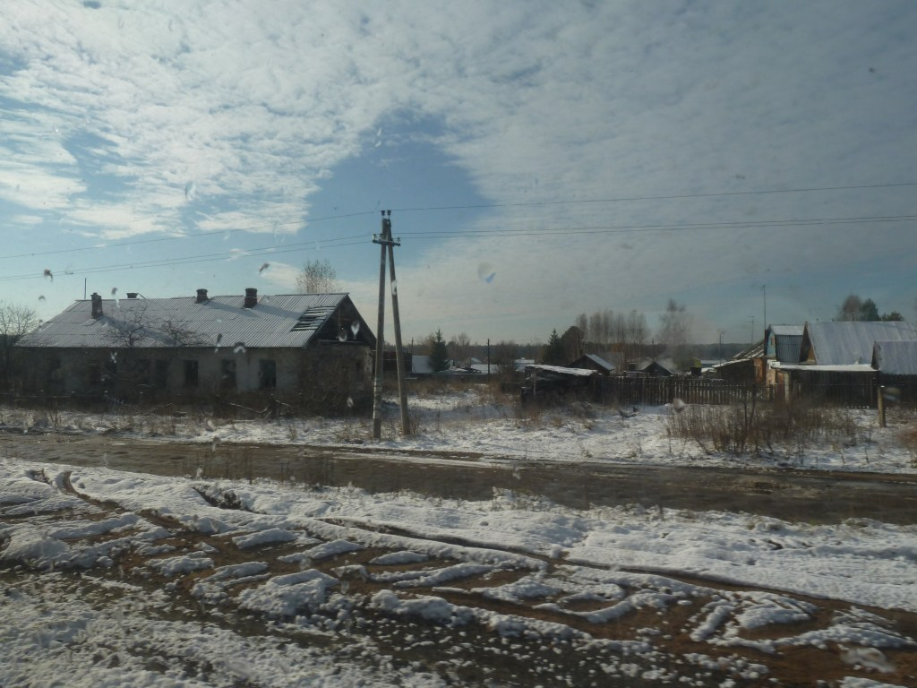 Cue much excitement when a village appears alongside the railway line