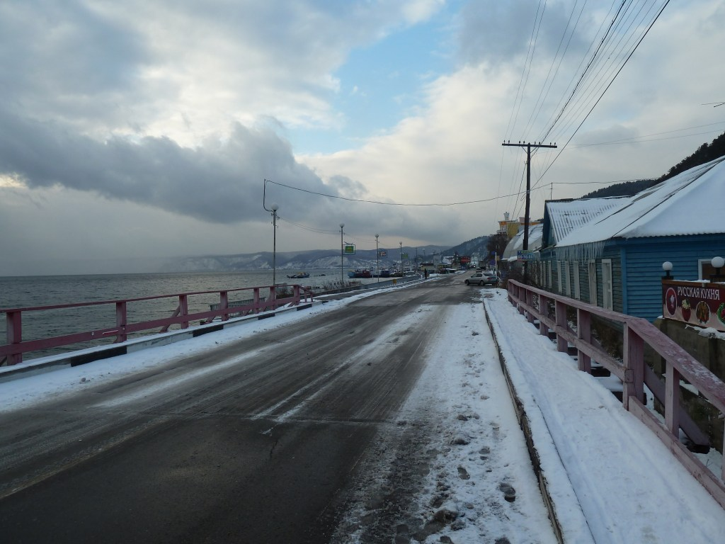 The heaving metropolis of Listvyanka on the shores of Lake Baikal