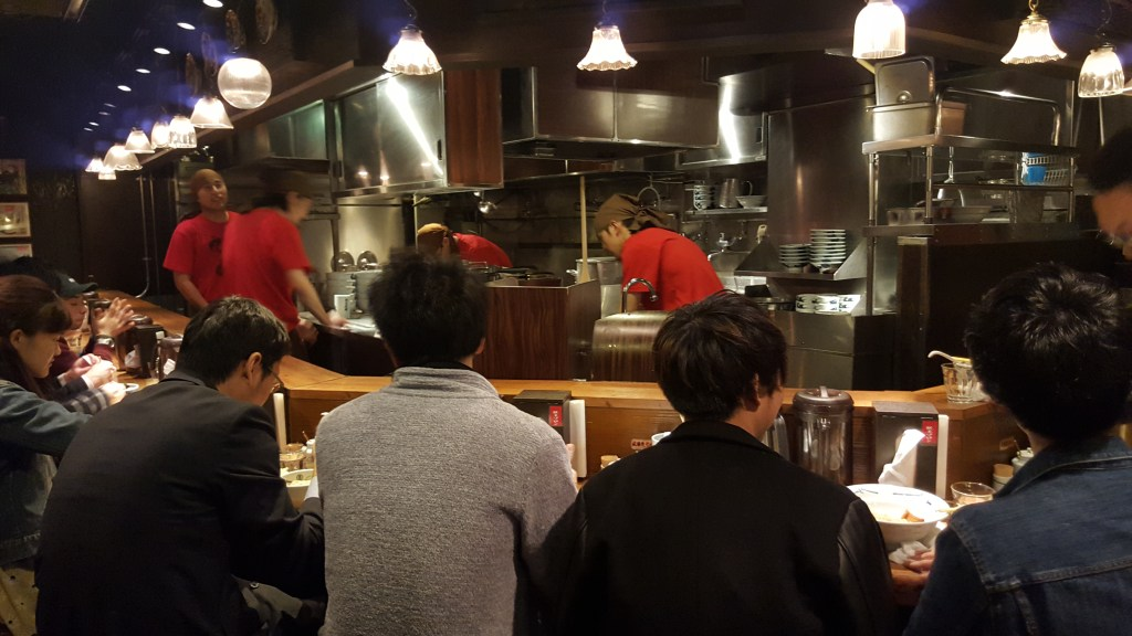 Hungry diners wait for their ramen