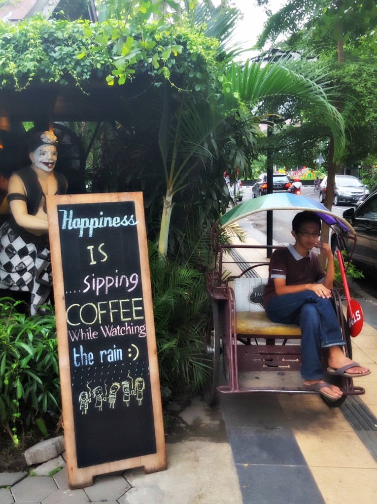 Outside Java Dancer, the best coffee shop in Malang - nay, Indonesia - nay, THE WORLD