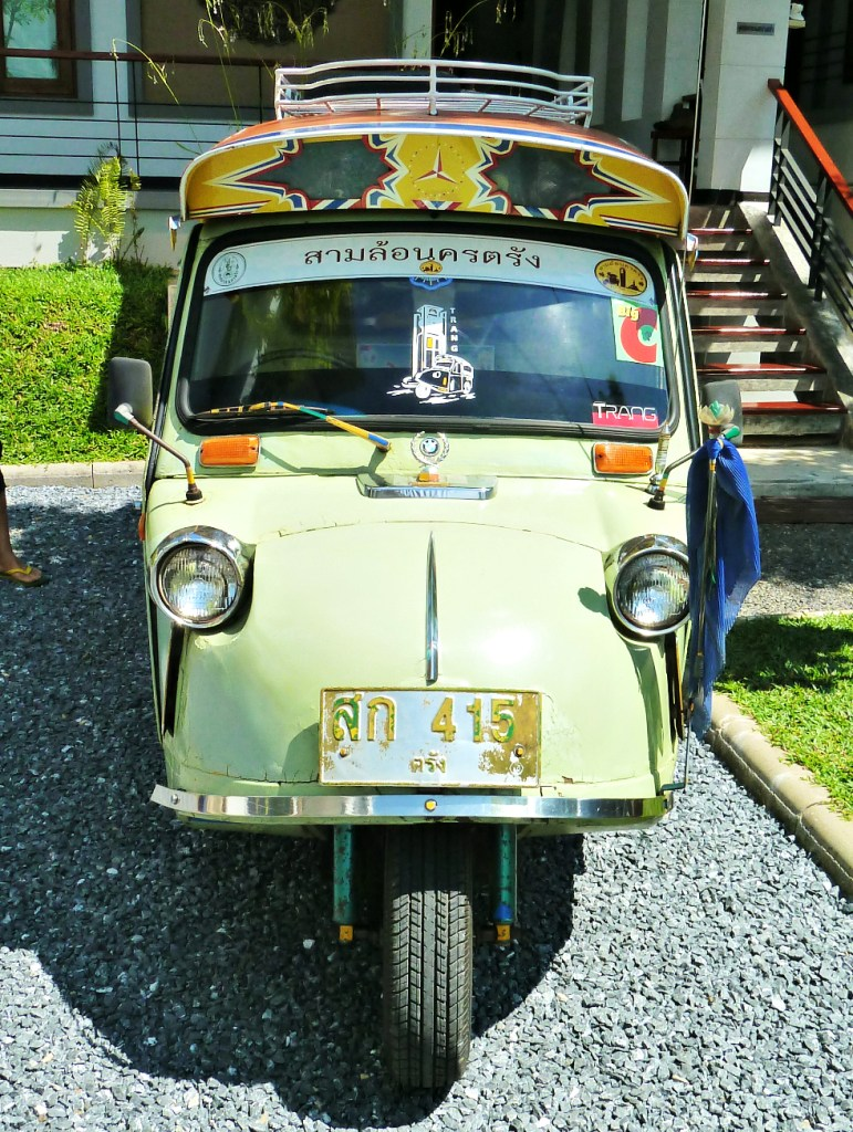 The tuktuks in Trang are famous for looking like frogs!
