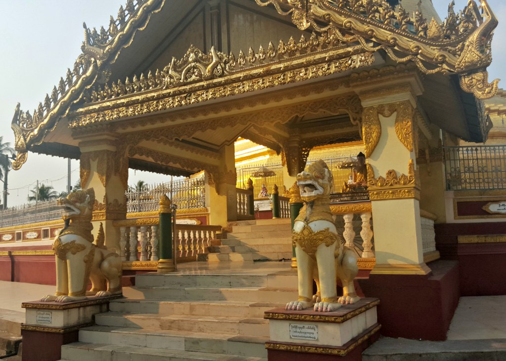 If you're not half-blinded by the gilt at a Burmese temple then something's very wrong