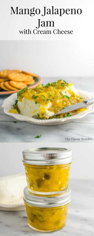 Mango Jalapeno Jam and Cream Cheese Dip The Flavor Bender