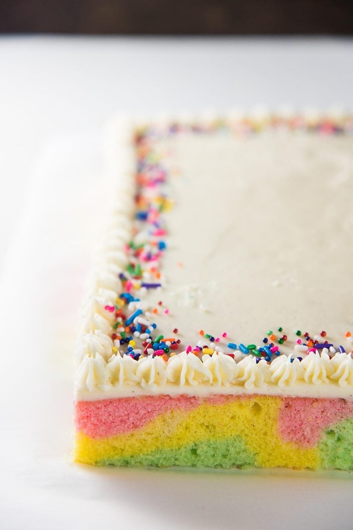 Ribbon Cake Swirled Pastel Cake The Flavor Bender