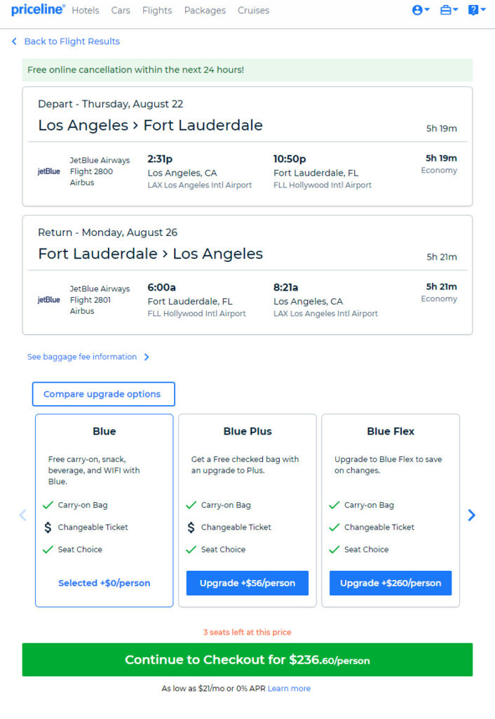 jetBlue – $237: Los Angeles – Fort Lauderdale (and vice versa). Roundtrip. including all Taxes – The Flight Deal