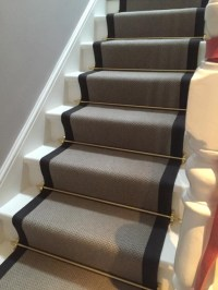 Stairs with golden rods | The Flooring Group