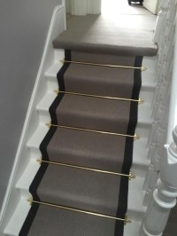 Stairs with golden rods