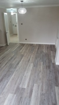 Amtico Grey Wood Flooring In Wandsworth