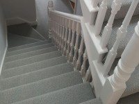 Stairs, Grey Wool Carpet | The Flooring Group