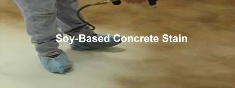 soy based concrete stain