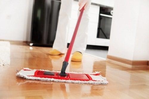 Sweeping Hardwood Flooring