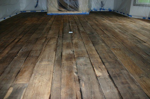 Aged but Sturdy Hardwood Flooring