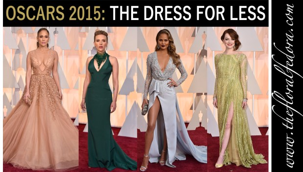 Oscars 2015 The Dress for Less