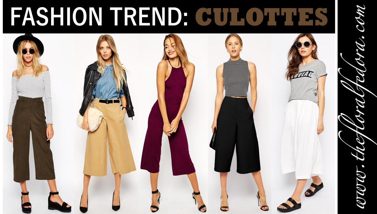 Fashion Trend: Culottes