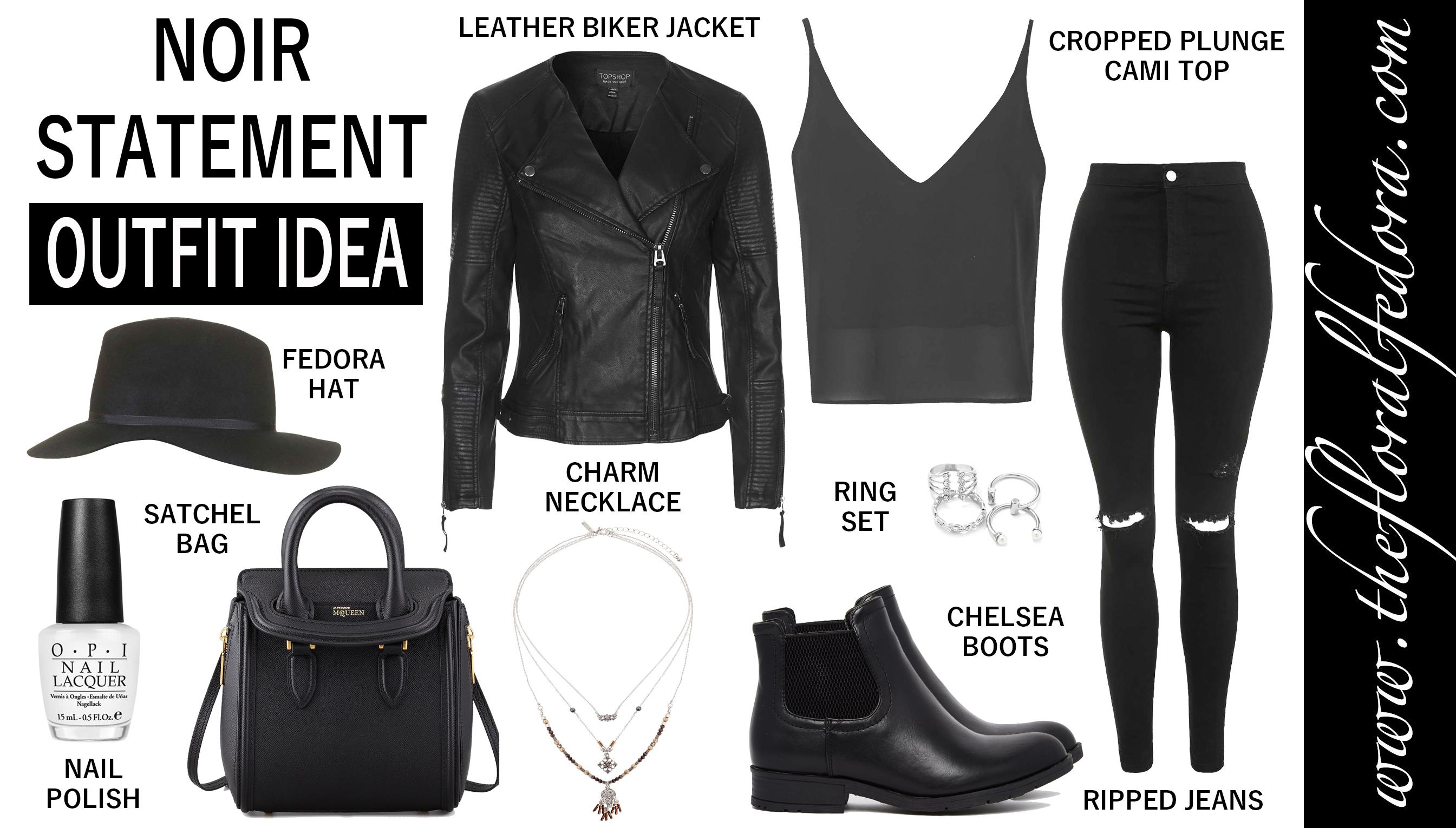 Outfit Idea: Noir Statement