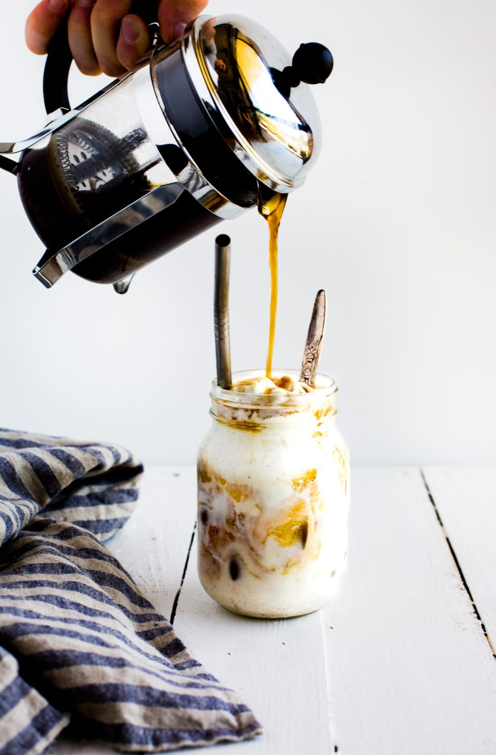 Date-Vanilla Almond Milk Iced Latte & Coffee Ice-Cream