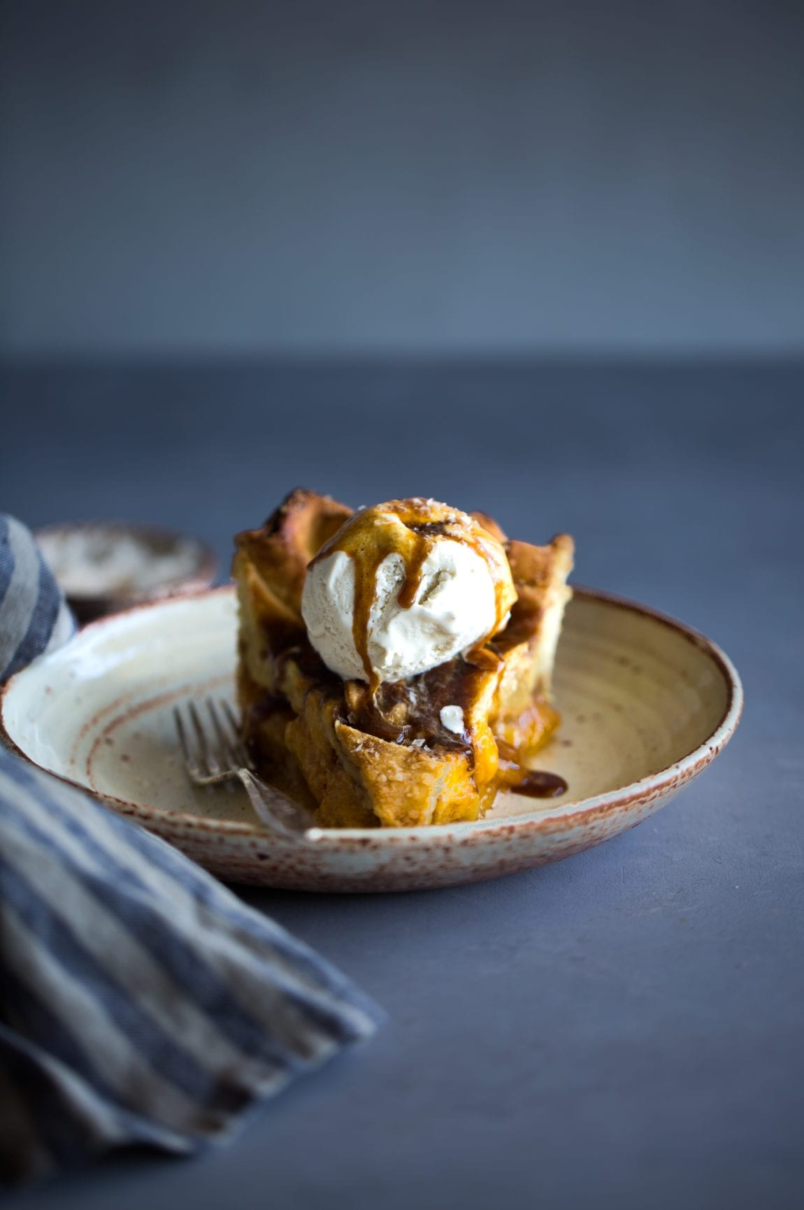 Peach & Salted Coconut Caramel Pie