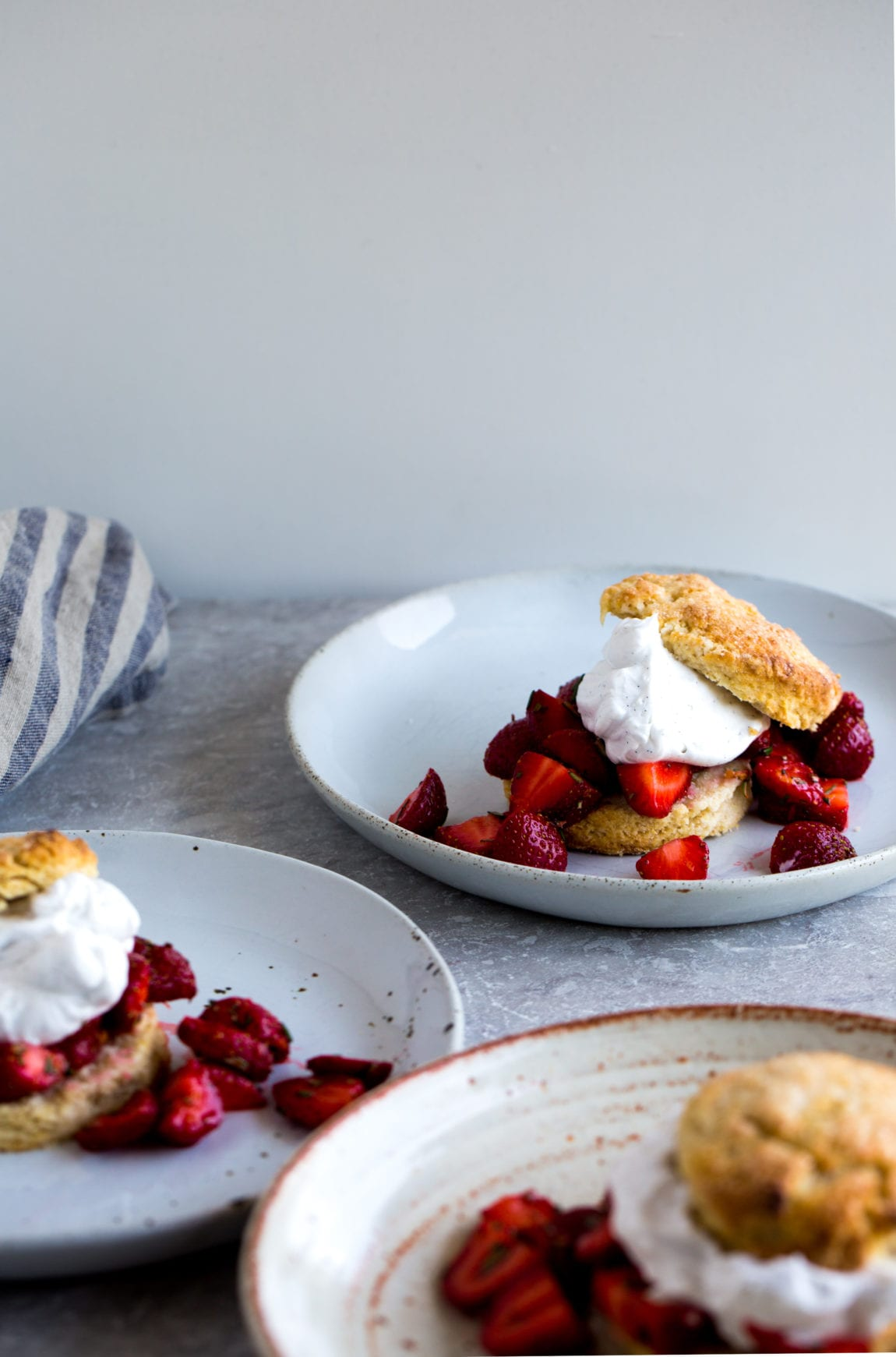 Barley & Rosemary Strawberry Shortcakes with Vanilla Bean Coconut Whipped Cream (vegan) | The Floured Kitchen