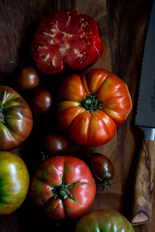 Vegan Heirloom Tomato BLAT with Coconut Bacon + Basil Mayo