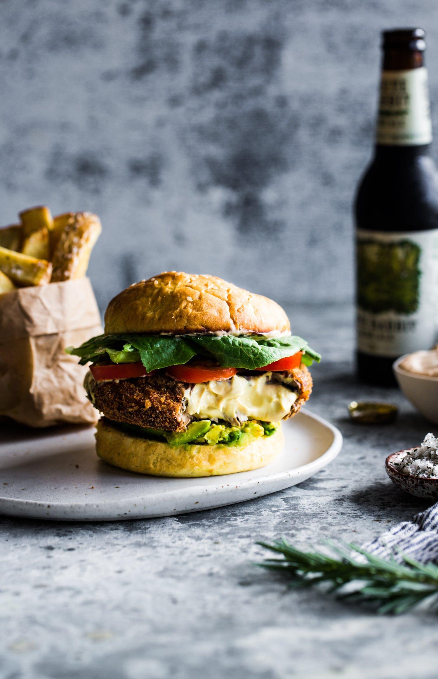 The Ultimate Vegan Portobello Mushroom Burger The Floured Kitchen