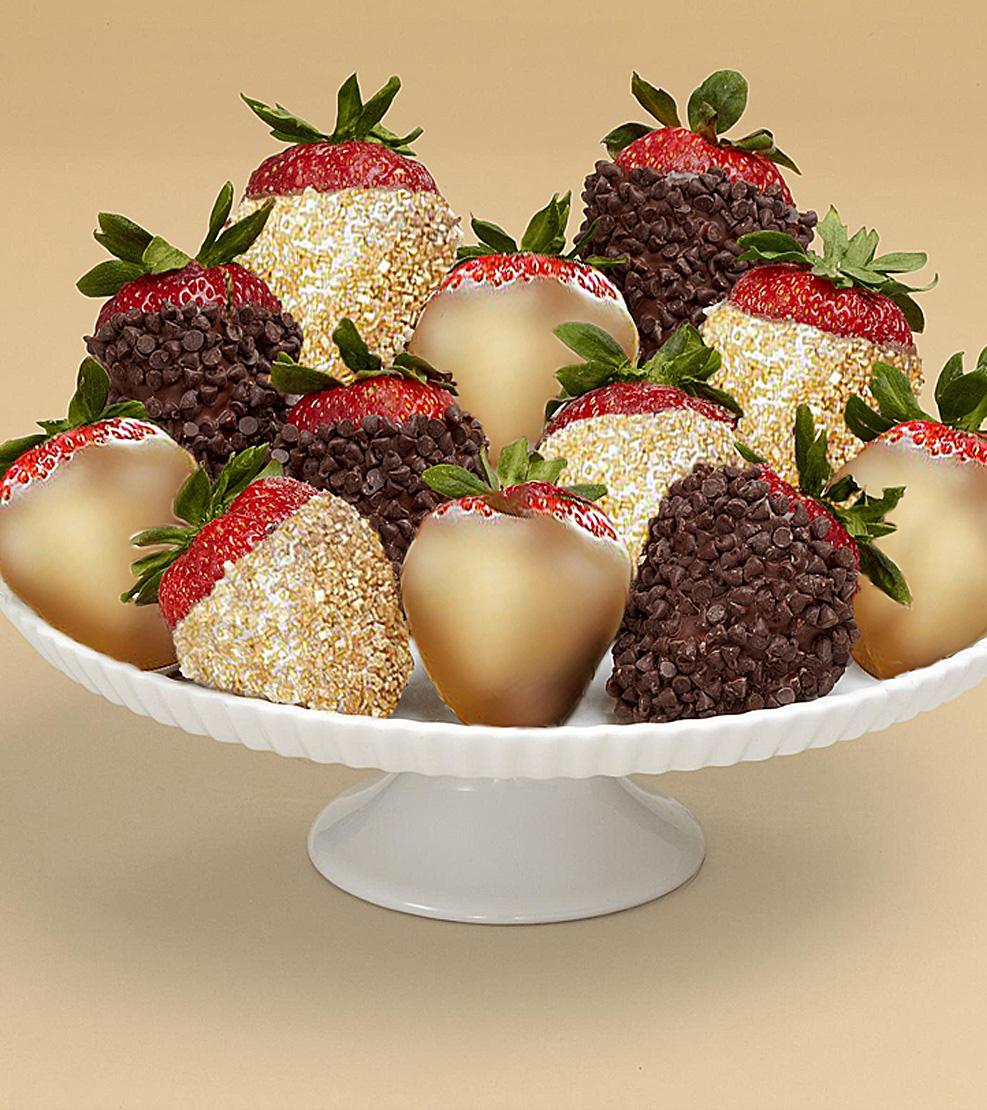 The Gold Standard Dozen Dipped Strawberries