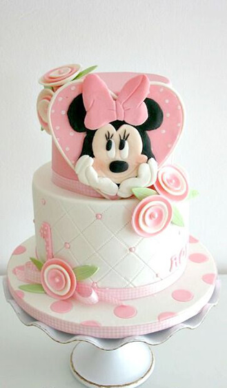 Pastel Minnie Mouse Birthday Cake Broadwaybakerycom 39450