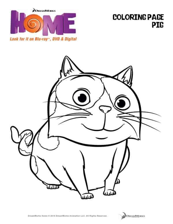 You Must See Dreamworks Animations Home Coloring Page Pig The Flying Couponer