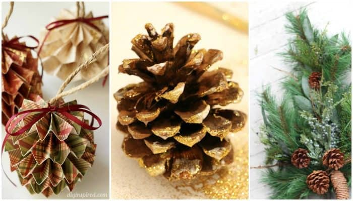 21 Christmas Craft Ideas. Pine Cones. The Flying Couponer