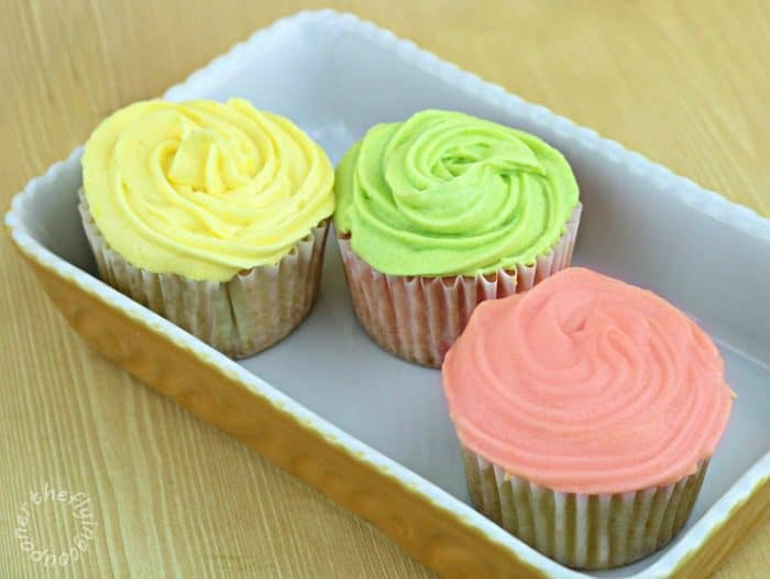 Spring Cupcakes with Homemade Frosting Recipe