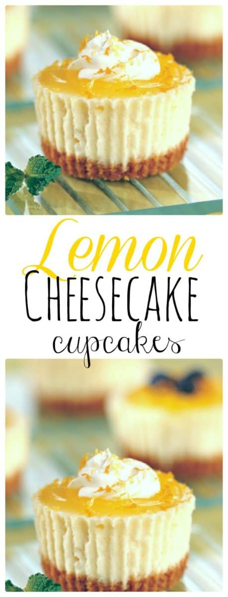 Lemon Cheesecake Cupcakes.