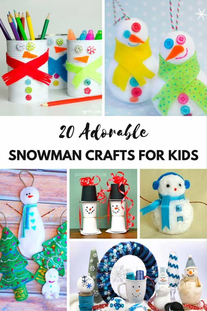 Snowman Crafts. Christmas Ornements.