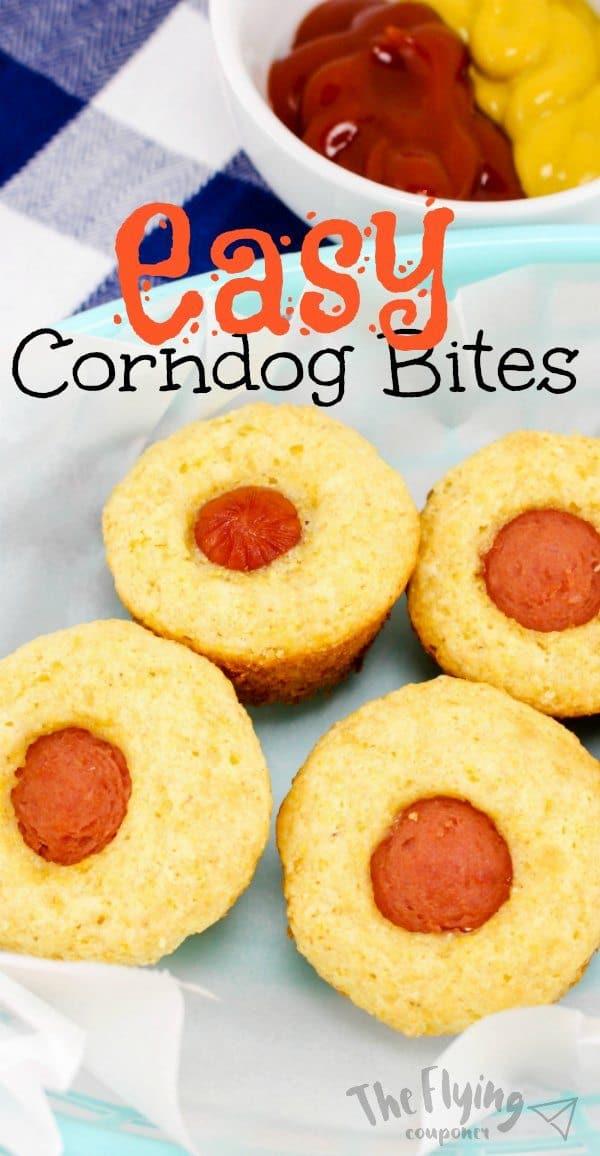 Easy Homemade Corndog Bites