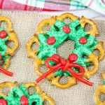 Chocolate Pretzel Christmas Wreaths
