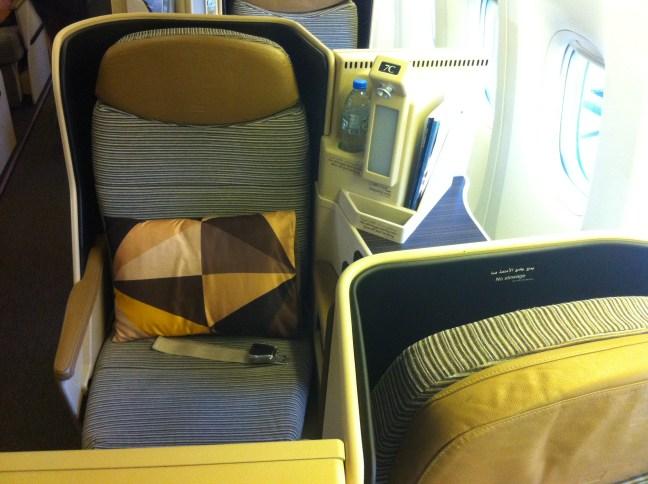 Etihad Business Class Seat