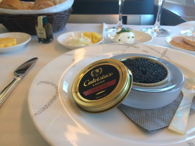 Cathay First class caviar