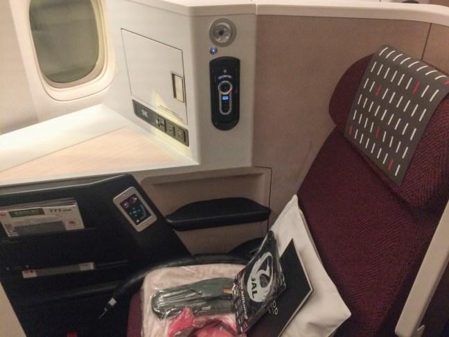 JAL Business Class Sky Suite III Seat