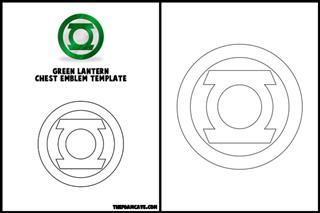 Template for Green Lantern Chest Emblem