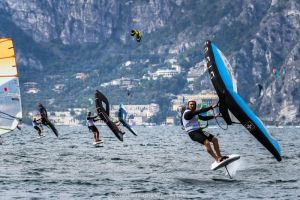 Balz Muller riding for Ensis in Malcesine Italy