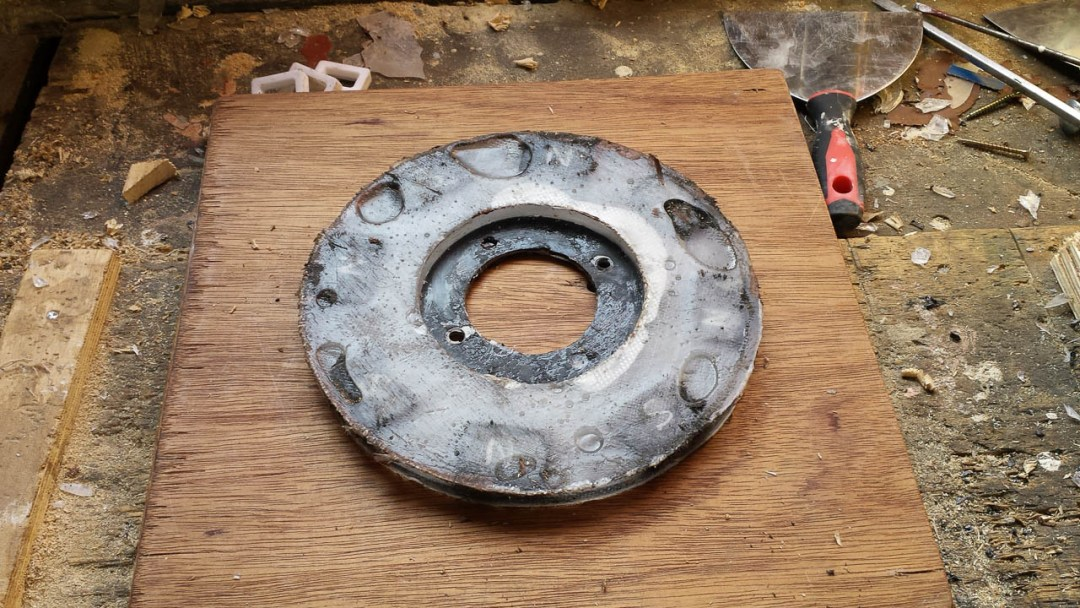 14 Magnet Rotor Casting After Removal From Mould