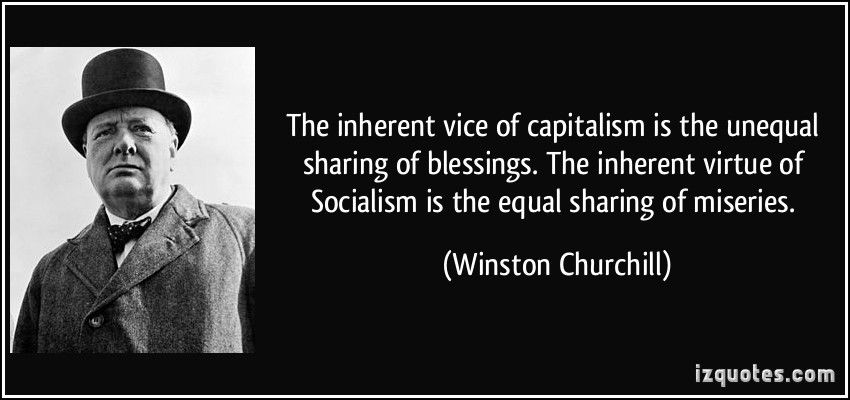 Churchill quote - Capitalism