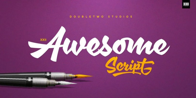 Xxii Awesomescript [1 Font]   The Fonts Master