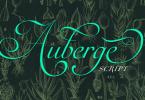 Auberge Script [7 Fonts] | The Fonts Master