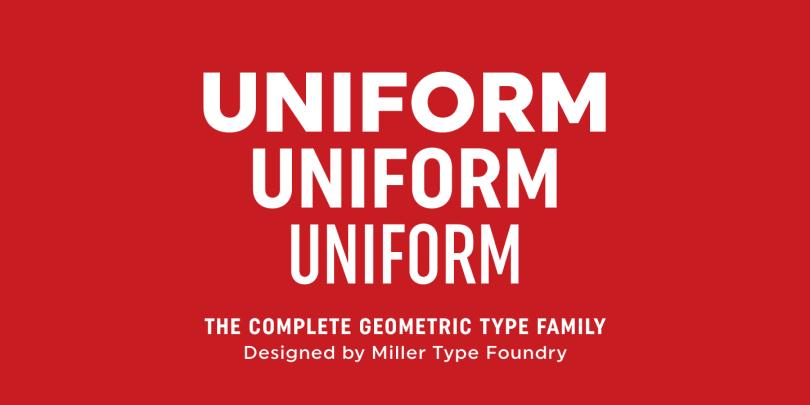 Uniform [18 Fonts] | The Fonts Master