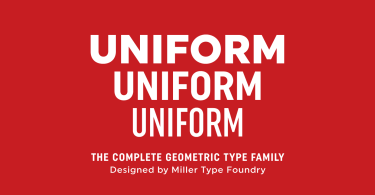 Uniform [18 Fonts]